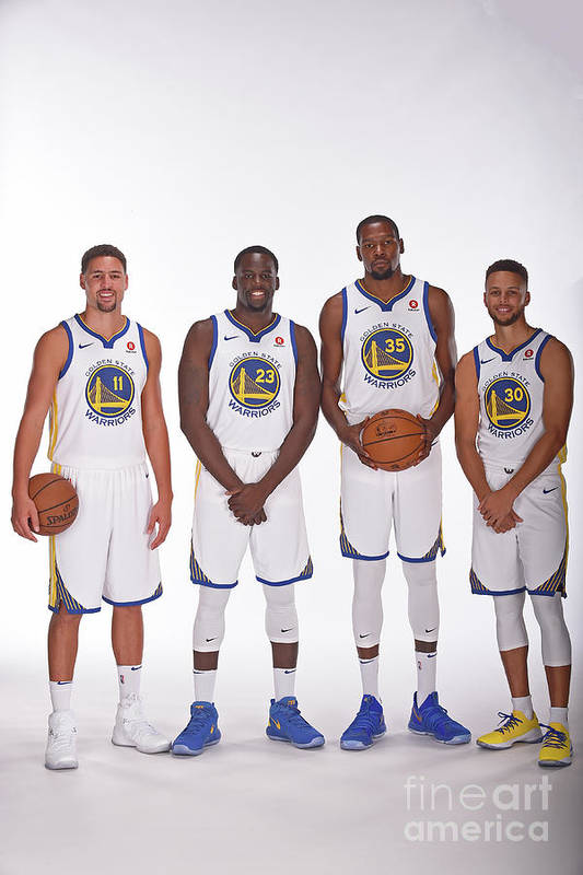 Media Day Art Print featuring the photograph 2017-18 Golden State Warriors Media Day by Noah Graham