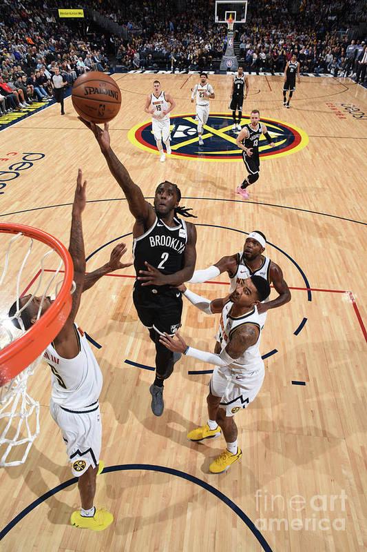 Nba Pro Basketball Art Print featuring the photograph Brooklyn Nets V Denver Nuggets by Garrett Ellwood