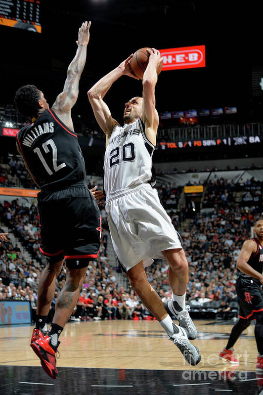 Game Two Art Print featuring the photograph Houston Rockets V San Antonio Spurs - by Mark Sobhani