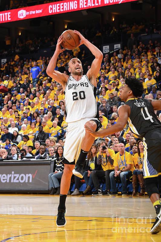 Playoffs Art Print featuring the photograph San Antonio Spurs V Golden State by Andrew D. Bernstein