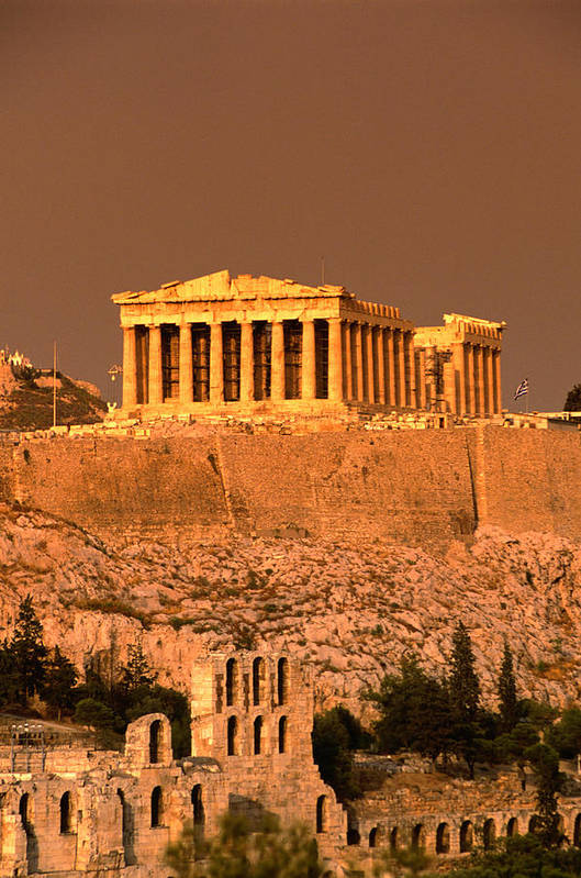 Greek Culture Art Print featuring the photograph Acropolis And Parthenon From Filopappou by Lonely Planet
