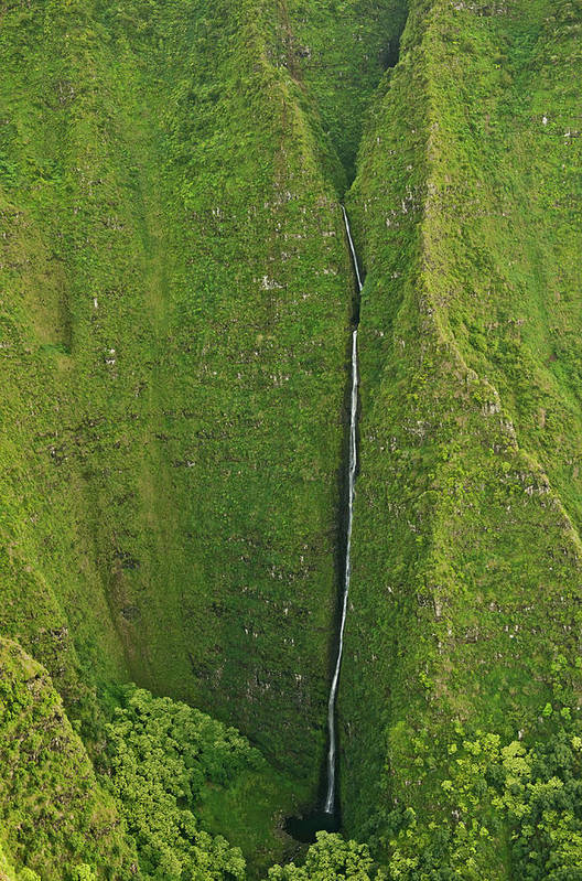 Scenics Art Print featuring the photograph Aerial View Of Waterfall In Narrow by Enrique R. Aguirre Aves