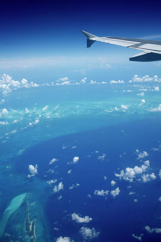 Scenics Art Print featuring the photograph Airplane View Of The Caribbean by Cdwheatley