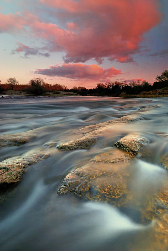 Scenics Art Print featuring the photograph American River Parkway At Sunset by David Kiene
