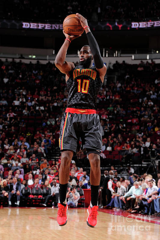 Tim Hardaway Jr. Art Print featuring the photograph Atlanta Hawks V Houston Rockets by Bill Baptist