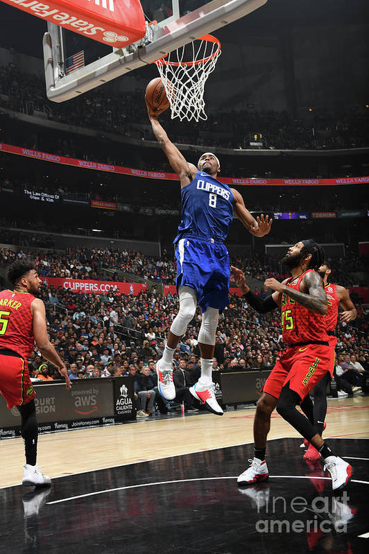 Moe Harkless Art Print featuring the photograph Atlanta Hawks V La Clippers by Andrew D. Bernstein