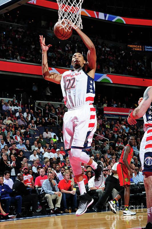 Playoffs Art Print featuring the photograph Atlanta Hawks V Washington Wizards - by Scott Cunningham