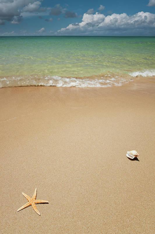 Empty Art Print featuring the photograph Beach by Ugurhan