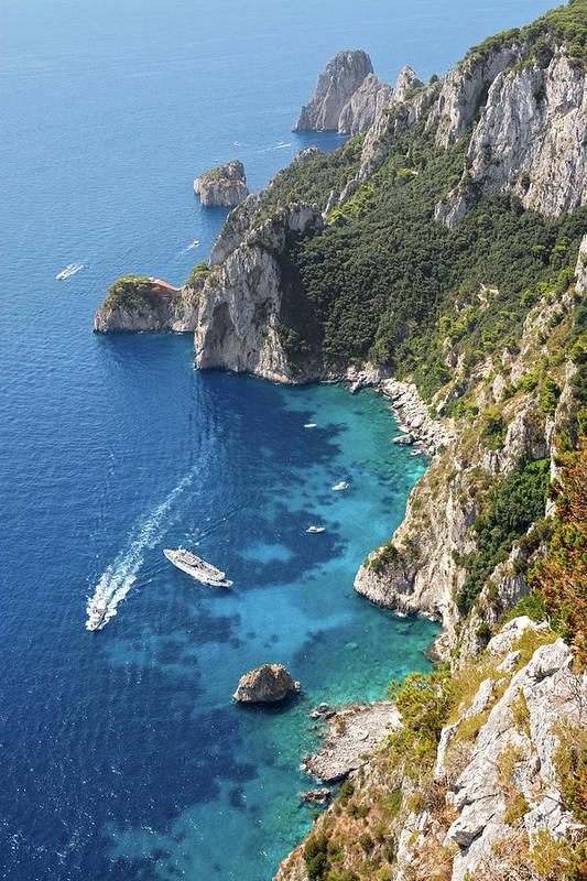 Scenics Art Print featuring the photograph Beautiful Capris Sea by Pierpaolo Paldino