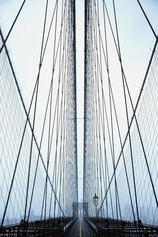 Suspension Bridge Art Print featuring the photograph Brooklyn Bridge by Eric O'connell