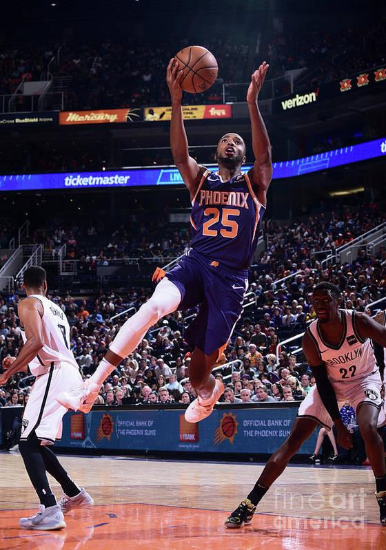 Nba Pro Basketball Art Print featuring the photograph Brooklyn Nets V Phoenix Suns by Michael Gonzales