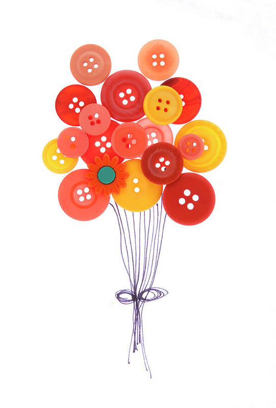 Brampton Art Print featuring the photograph Buttons As Balloons by Lisa Stokes