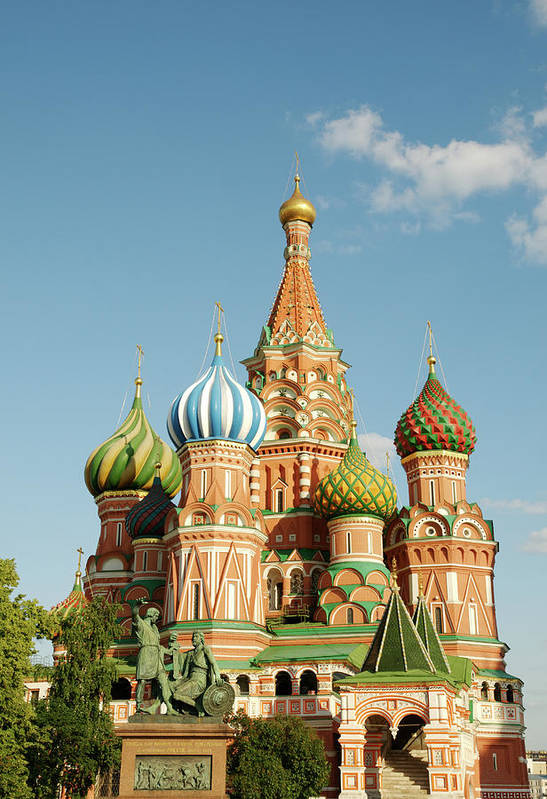 Statue Art Print featuring the photograph Cathedral Of Saint Basil The Blessed In by Travelif