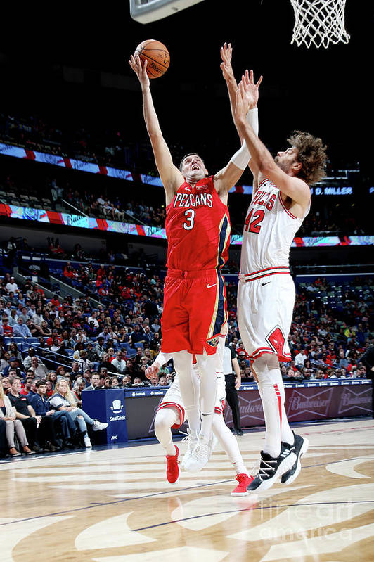 Smoothie King Center Art Print featuring the photograph Chicago Bulls V New Orleans Pelicans by Layne Murdoch Jr.