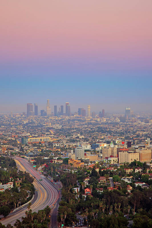 California Art Print featuring the photograph Cityscape Of Los Angeles by Eric Lo
