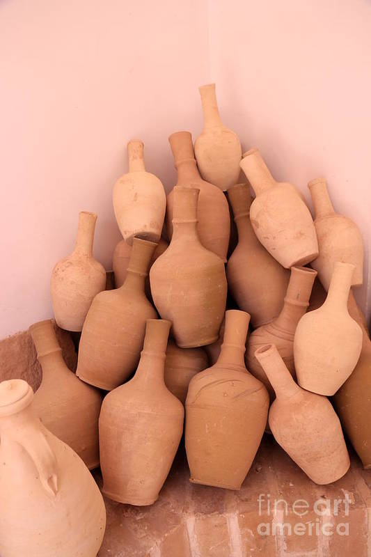 Empty Art Print featuring the photograph Clay Jars by Socha