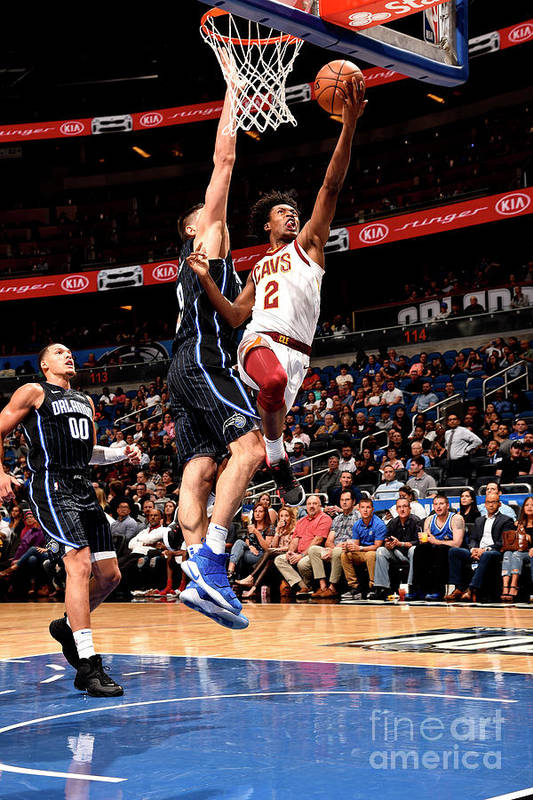 Nba Pro Basketball Art Print featuring the photograph Cleveland Cavaliers V Orlando Magic by Gary Bassing