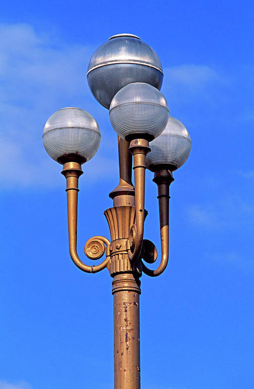 French Riviera Art Print featuring the photograph Closeup Of A Lamp by Murat Taner