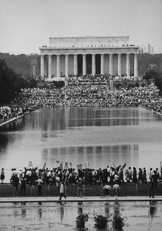 Timeincown Art Print featuring the photograph Crowd Of People Attending A Civil Rights by John Dominis