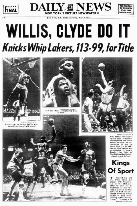 Nba Pro Basketball Art Print featuring the photograph Daily News Back Page Dated May 9, 1970 by New York Daily News Archive