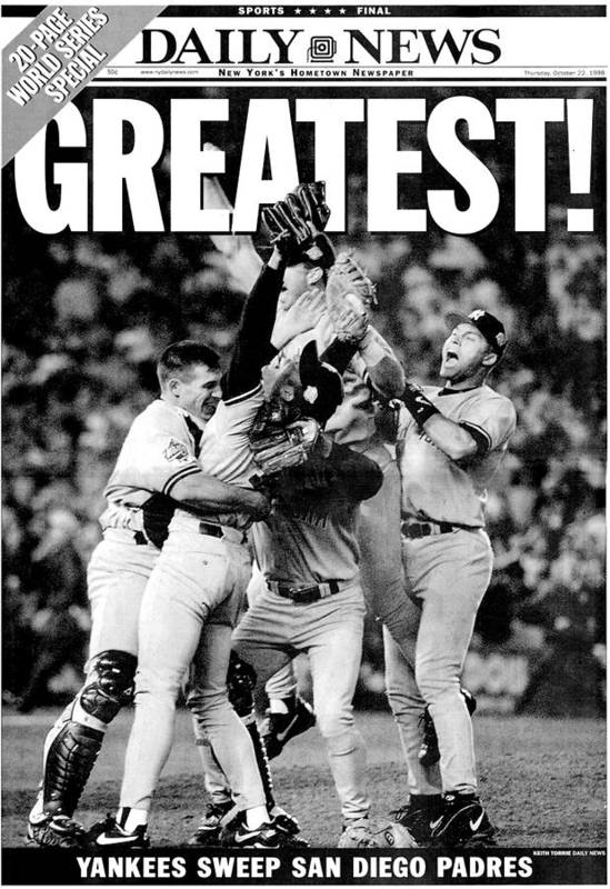 American League Baseball Art Print featuring the photograph Daily News Front Page Wrap Dated Oct by New York Daily News Archive