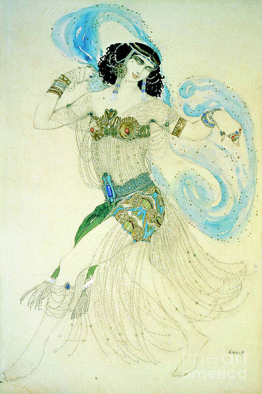 People Art Print featuring the drawing Dance Of The Seven Veils, 1908. Artist by Heritage Images