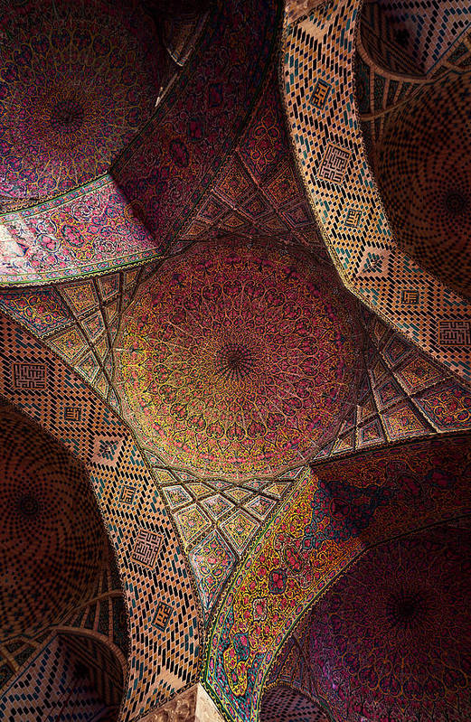 East Art Print featuring the photograph Detail Of The Ceiling Tilework by Len4foto