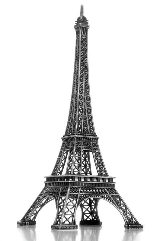 Architectural Model Art Print featuring the photograph Eiffel Tower by Jamesmcq24