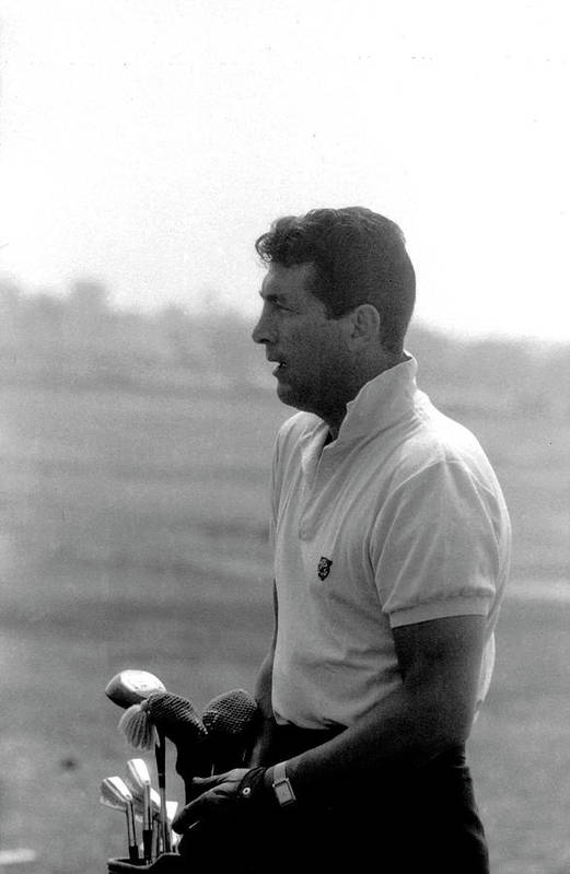 Timeincown Art Print featuring the photograph Entertainer Dean Martin Playing Golf by Allan Grant