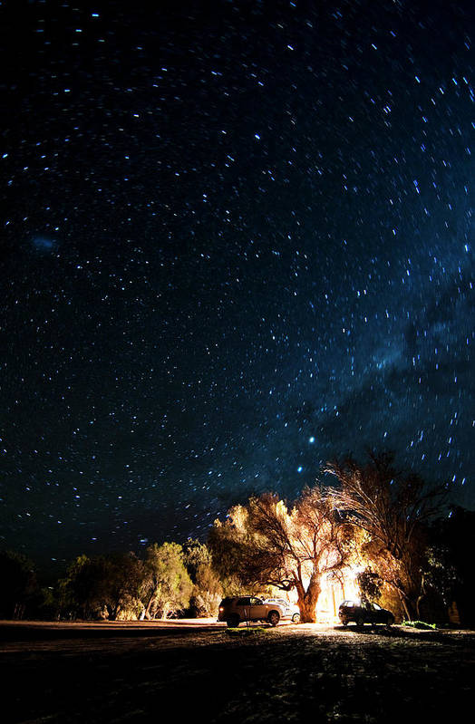 Northern Cape Province Art Print featuring the photograph Farm House And Milky Way by Subman