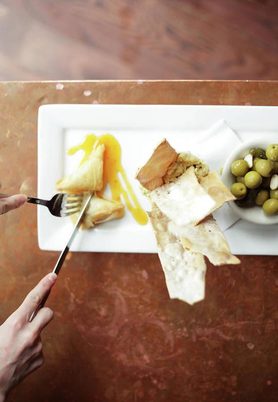 Feta Cheese Art Print featuring the photograph Feta Crisps by Caleb Condit