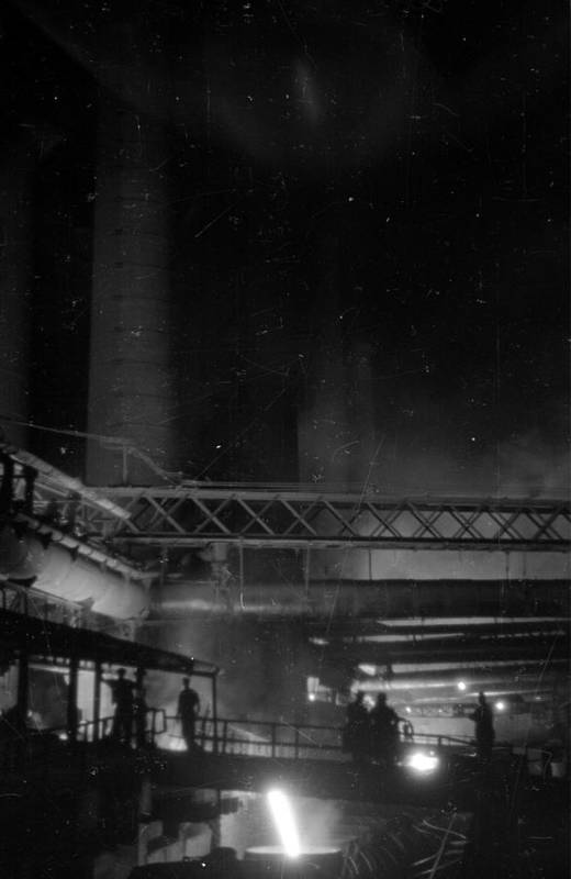 Working Art Print featuring the photograph Furnaces By Night by Felix Man