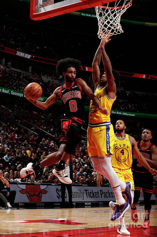 Chicago Bulls Art Print featuring the photograph Golden State Warriors V Chicago Bulls by Jeff Haynes