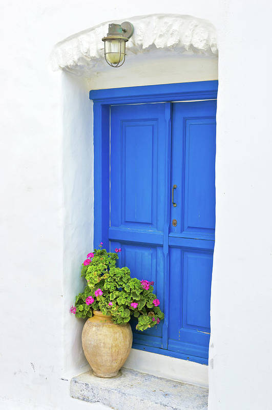 Greek Culture Art Print featuring the photograph Greek Island Doorway by Abzee
