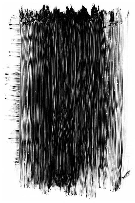 Art Art Print featuring the photograph Grunge Black Paint Brush Stroke by 77studio