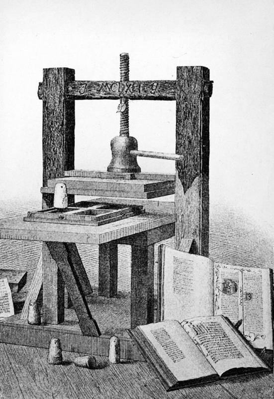 Engraving Art Print featuring the photograph Gutenberg Printing Press by Authenticated News