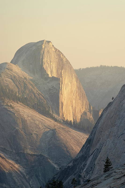 Scenics Art Print featuring the photograph Half Dome At Sunset, Olmsted Point by James Hager / Robertharding