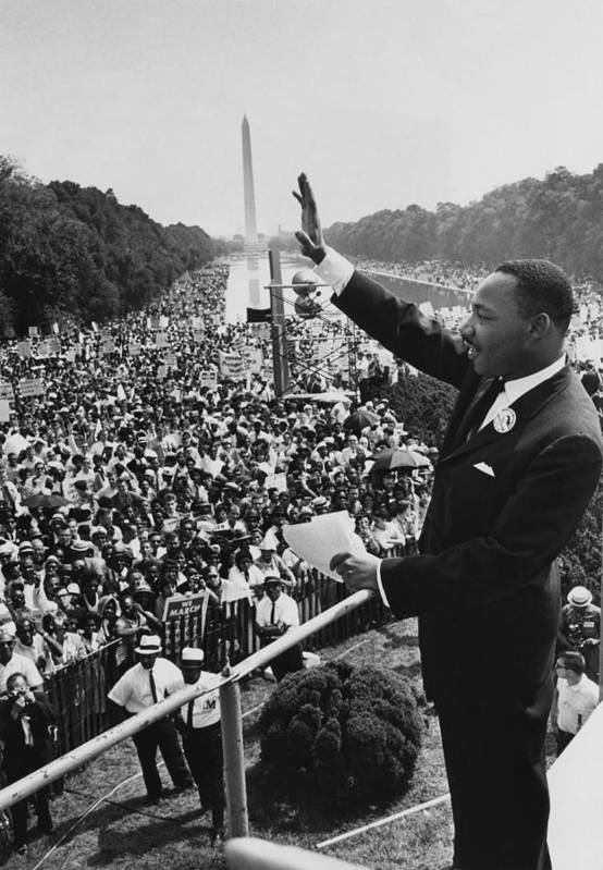 Crowd Art Print featuring the photograph I Have A Dream by Hulton Archive