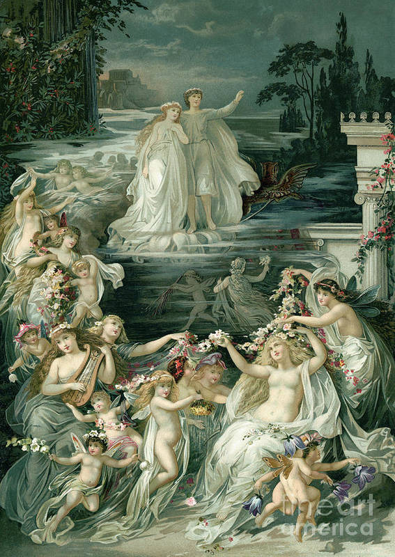 Crown Art Print featuring the photograph Illustration Depicting Lysander, Hermia by Bettmann