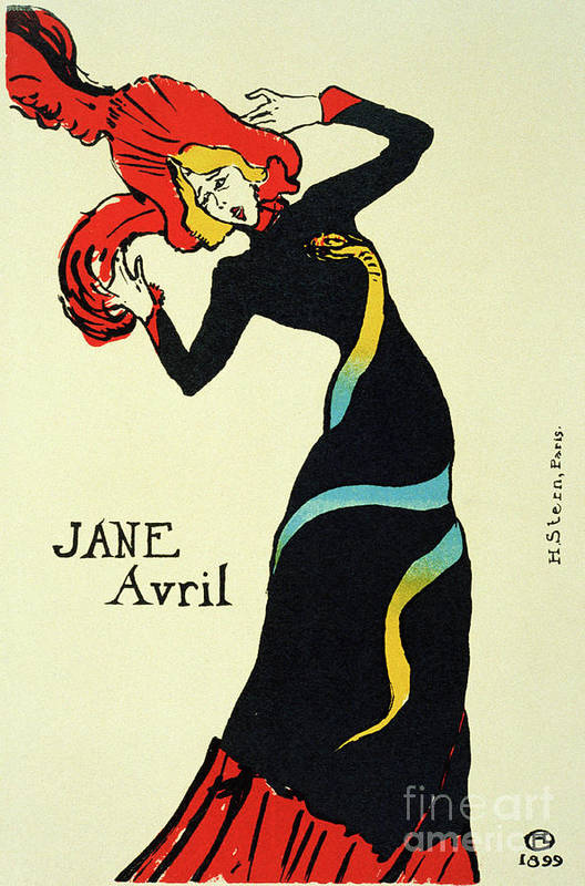Jane Avril Art Print featuring the drawing Jane Avril, 1899. Artist Henri De by Heritage Images