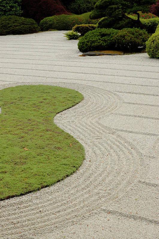 Japanese Zen Garden Art Print By Picmax