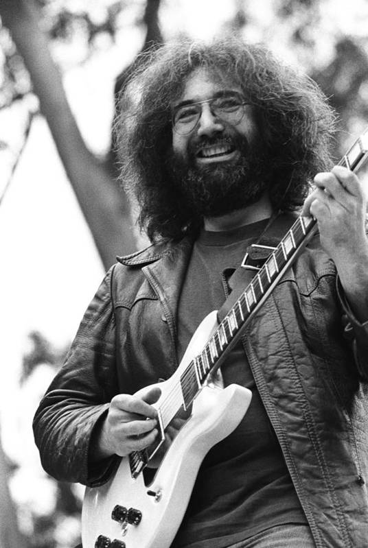 Music Art Print featuring the photograph Jerry Garcia Performs Live by Richard Mccaffrey