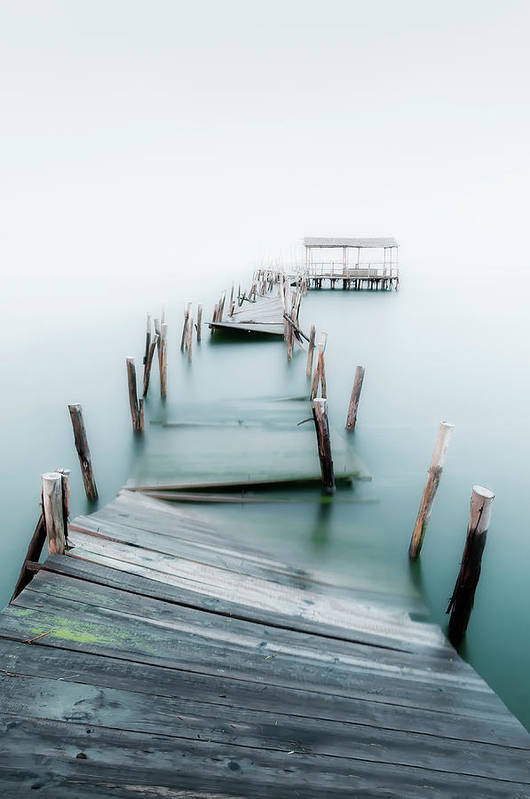 The End Art Print featuring the photograph Jetty by Lt Photo