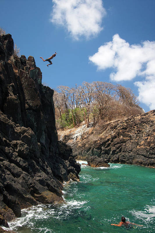 Tranquility Art Print featuring the photograph Jumping by Mauricio M Favero