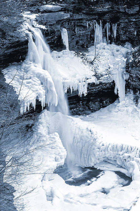 Winter Art Print featuring the photograph Kaaterskill Falls by Tom Romeo