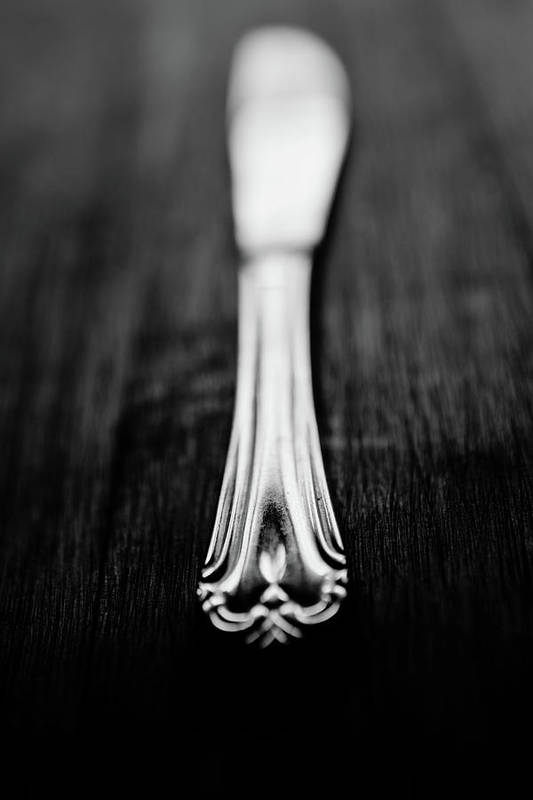 Silver Colored Art Print featuring the photograph Knife by Mmeemil
