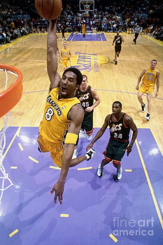 Nba Pro Basketball Art Print featuring the photograph Kobe Bryant Classics by Andrew D. Bernstein