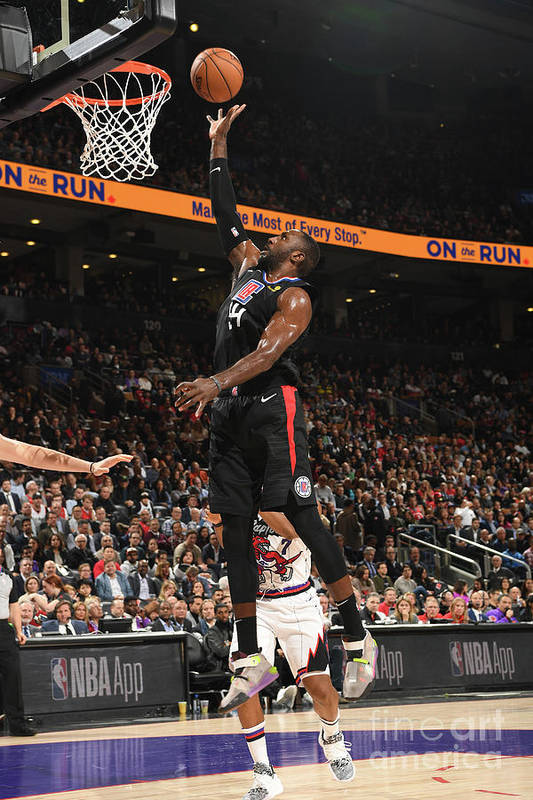 Patrick Patterson Art Print featuring the photograph La Clippers V Toronto Raptors by Ron Turenne