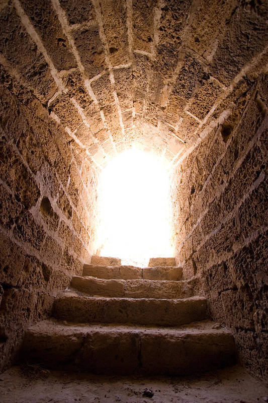 Steps Art Print featuring the photograph Light At End Of The Tunnel by Kreicher