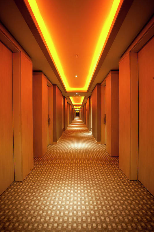 Long Art Print featuring the photograph Long, Narrow Corridor With Retro Themed by Dogayusufdokdok